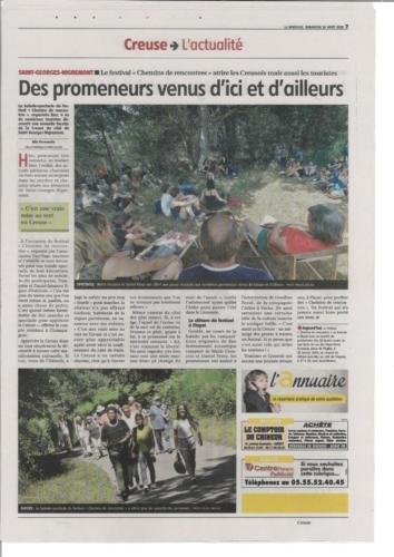 LA MONTAGNE16/08/20 Les Chemins de Rencontres 2020