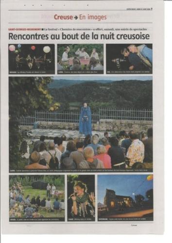 LA MONTAGNE17/08/20 Les Chemins de Rencontres 2020