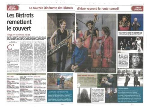 LA MONTAGNE 07/01/20 Les Bistrots d'Hiver 2020