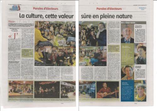 LA MONTAGNE 13/01/20 Paroles d'électeurs